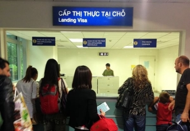 """In the Tan Son Nhat int'l airport (in Ho Chi Minh city), you will see an office called """"Landing Visa"""""""