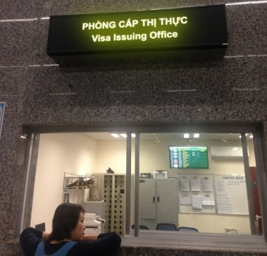 """In the Da Nang int'l airport (in Da Nang city), you will see an office called """"Visa Issuing Office"""""""