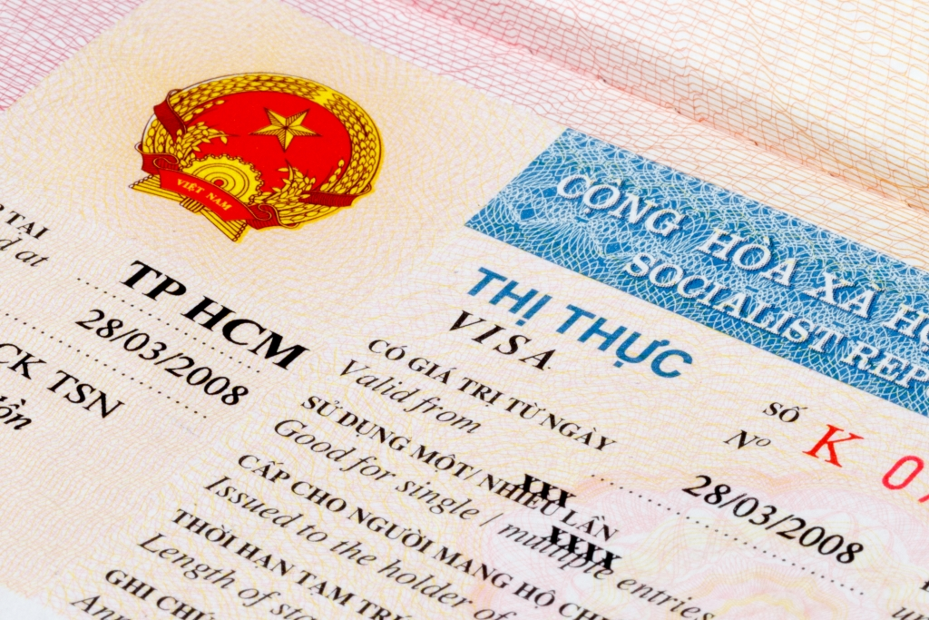 Vietnam visa in passport